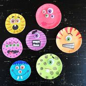 Canning Lid Monster Craft - Crafts by Amanda