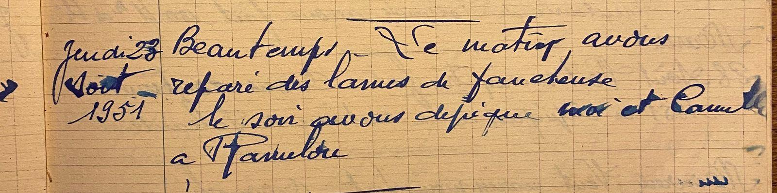Jeudi 23 août 1951 - les lames de la faucheuse