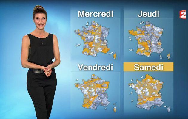 📸2 📺1 CHLOE NABEDIAN @ChloeNabedian @Soniadsm pour LA METEO ce MIDI @France2tv #vuesalatele
