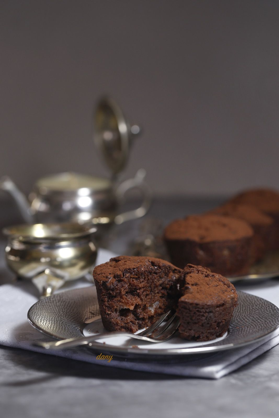 MUFFINS POIRES CHOCOLAT à l'huile de sésame