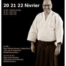 Stéphane Crommelynck en stage en France, 20 au 22 février