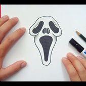 Como dibujar a Scream paso a paso - Scream   How to draw Scream - Scream