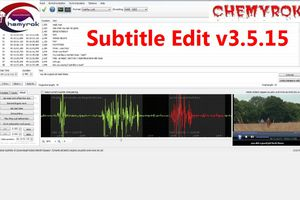 Subtitle Edit v3.5.15 Multilenguaje (Español) + Portable, Editor de Subtítulos de Video