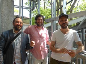collectif d'artistes BGL ou Jasmin Bilodeau, Sébastien Giguère & Nicolas Laverdière, 7 mai 2015, semaine presse de la Biennale de Venise, 56e exposition Internationale d'Art, Canadissimo, Pavillon du Canada, Giardini  //  Chiharu Shiota, 7 mai 2015, semaine presse de Biennale de Venise, 56e exposition Internationale d'Art, The Key in the hand, Pavillon du Japon, Giardini © Le Curieux des arts Antoine Prodhomme