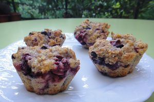 Muffins aux fruits rouges et son d'avoine