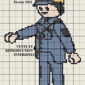 Grille gratuite point de croix : Playmobil policier - Le blog de Isabelle