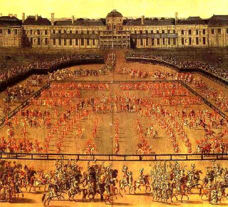 Le carrousel de 1662 devant les Tuileries