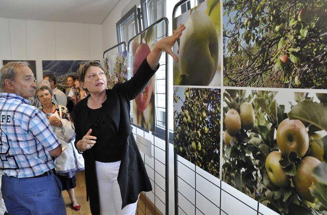 Des invités de marque à l'exposition L'Origine de la Pomme