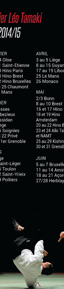 Calendrier stages Léo Tamaki 2015