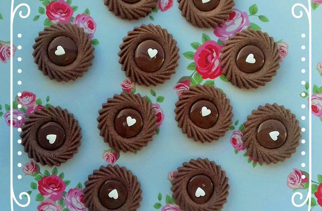 Tartelettes tout chocolat au chocolat caramel de nestlé