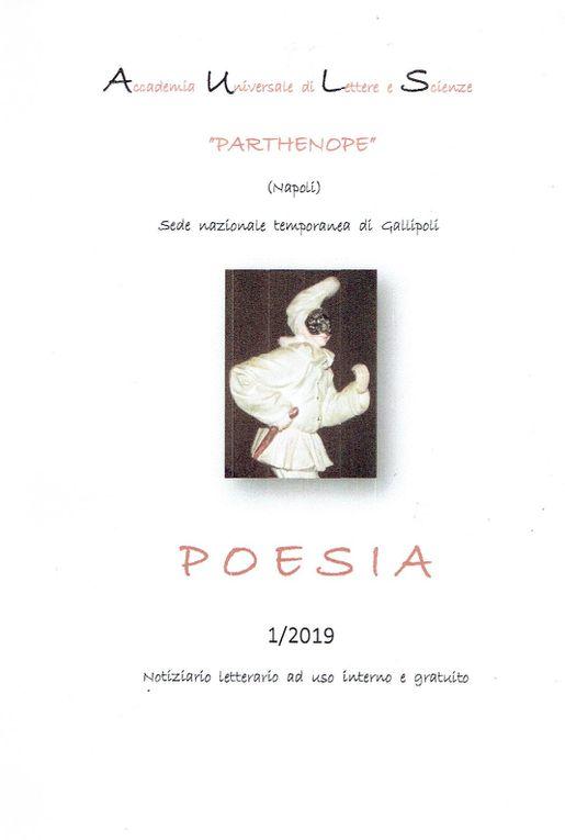 """Le poème de Salvatore Gucciardo, """"Apocalypse - Apocalisse"""", vient de paraître dans la revue italienne PARTHENOPE - POESIA n°1"""