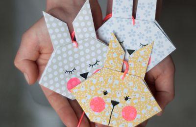 Lapins en origami