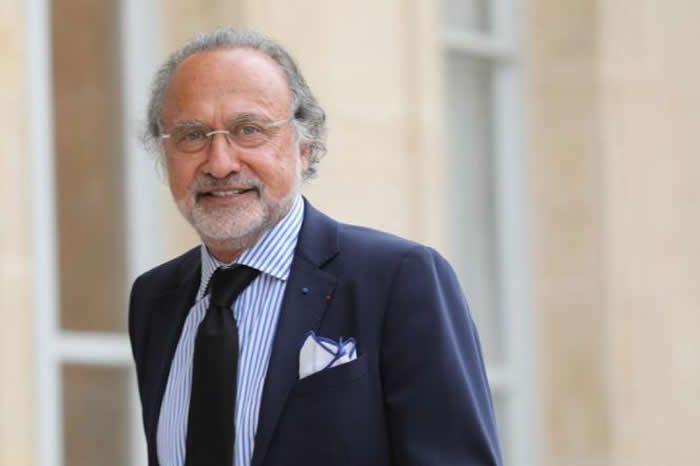 Olivier Dassault à l'Elysée, le 31 mai 2018. LUDOVIC MARIN / AFP