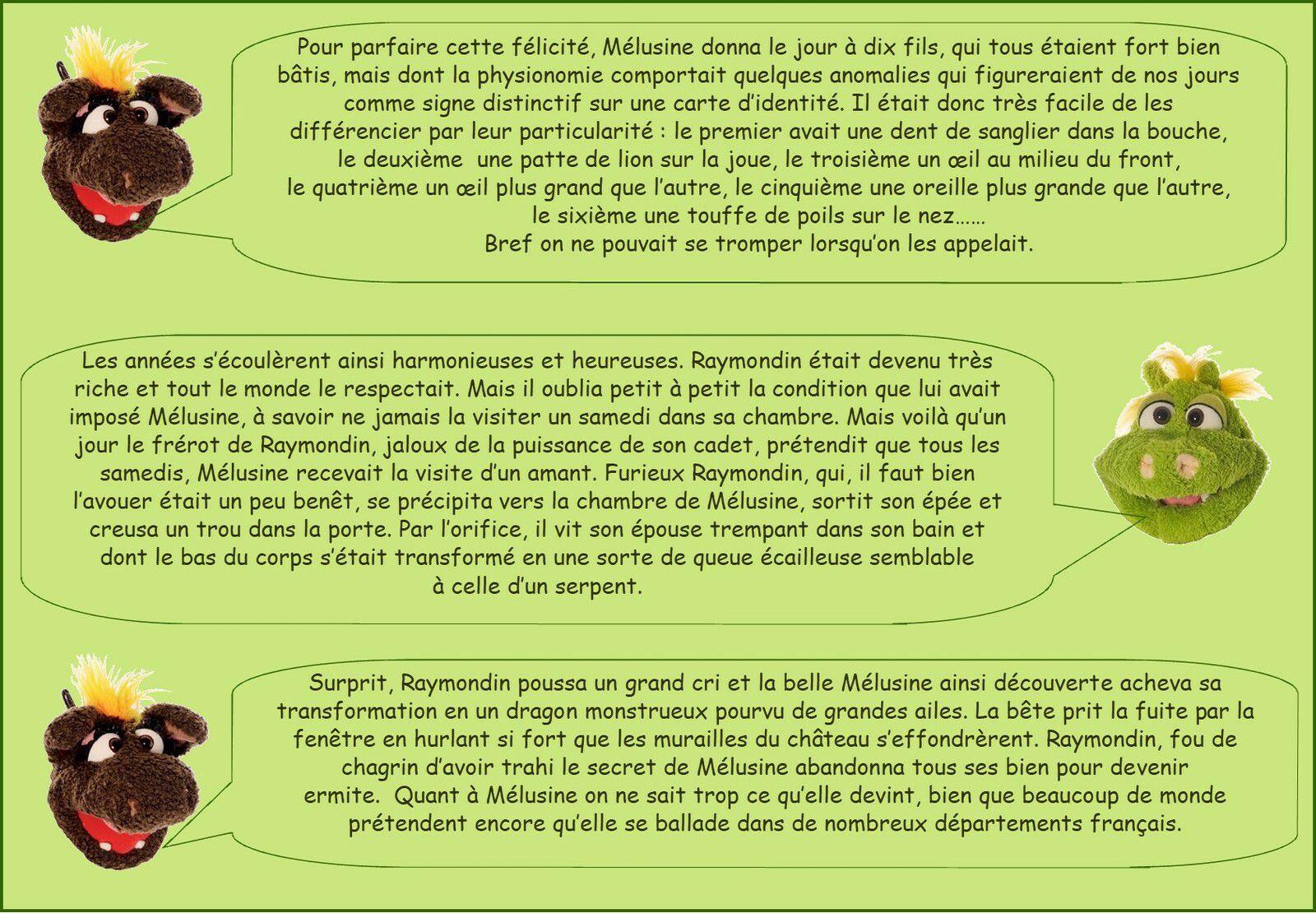 DRAGONS CELEBRES DE FRANCE
