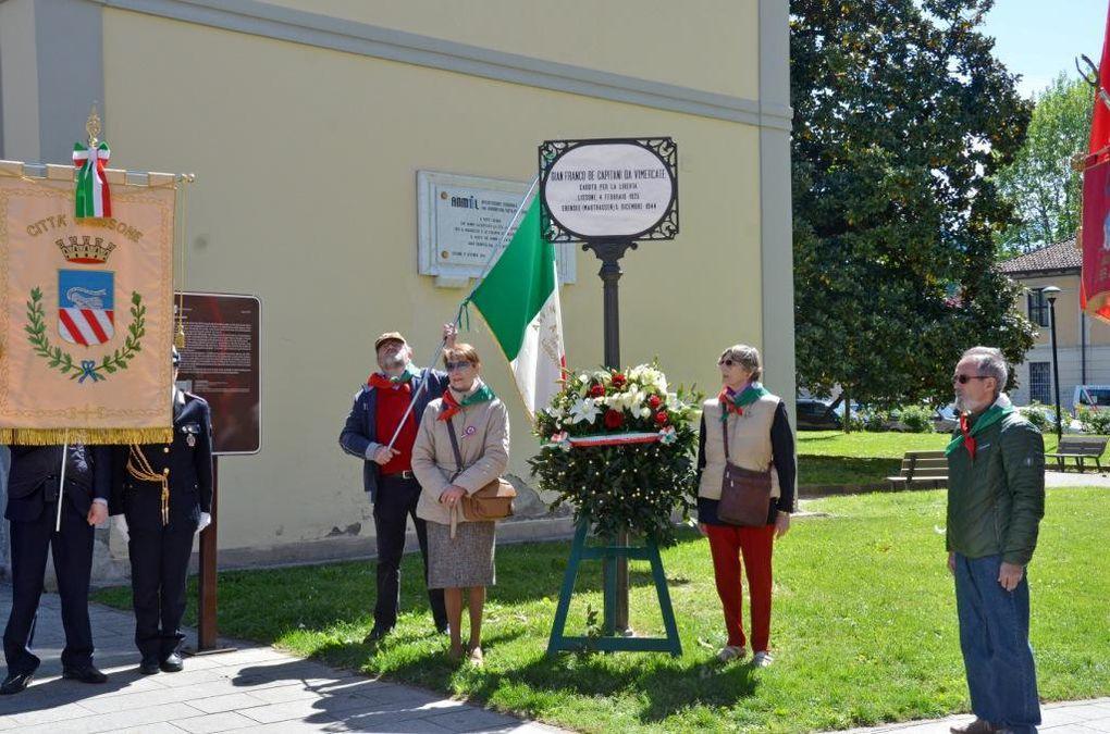 alcuni momenti della celebrazione della festa della Liberazione a Lissone (foto di Luigi Sala)