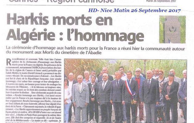 Journée nationale d'Hommage des Harkis, et membres des formations supplétives dans le Var (83)