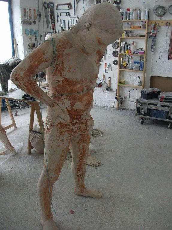 Moulage corps entier atelier de Jason Decaires Taylor
