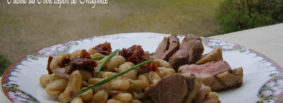 Mijoté aux haricots blancs, en cie de magret de canard Recette à indice glycémique bas Cuisine au Cook expert