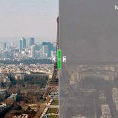 L'image du jour : À Paris, la pollution a fait disparaitre la tour Eiffel - MOINS de BIENS PLUS de LIENS