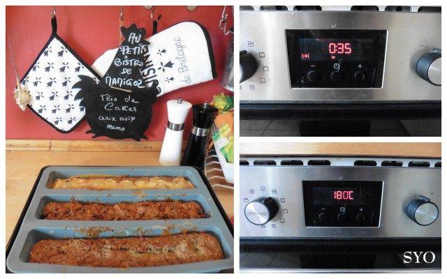 Trio de cakes aux noix /  Chorizo, Reblochon, Roquefort