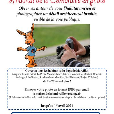 "CONCOURS PHOTO ""L'HABITAT DE LA COMBRAILLE EN PHOTO"""