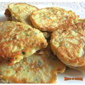 Blinis de courgettes - www.sucreetepices.com
