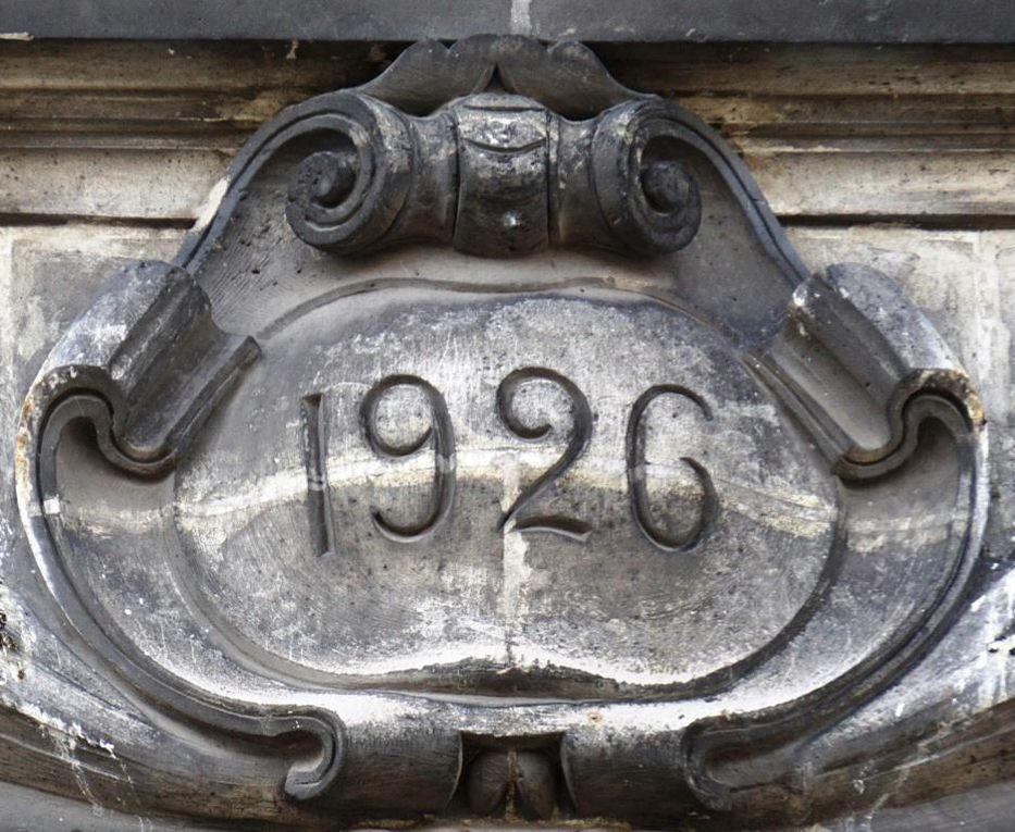 """Le 16 boulevard de Strasbourg inscrit sur sa façade """"1919"""" : il s'agit d'une restauration."""