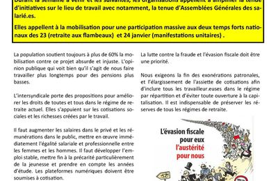 Tract intersyndicale mobilisation 23, 24 Janvier 2020