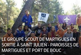 LE GROUPE SCOUT DE MARTIGUES EN SORTIE À SAINT JULIEN