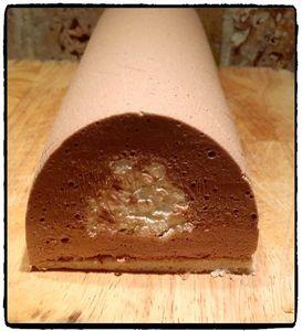 Bûche mousse coco et pâte à tartiner