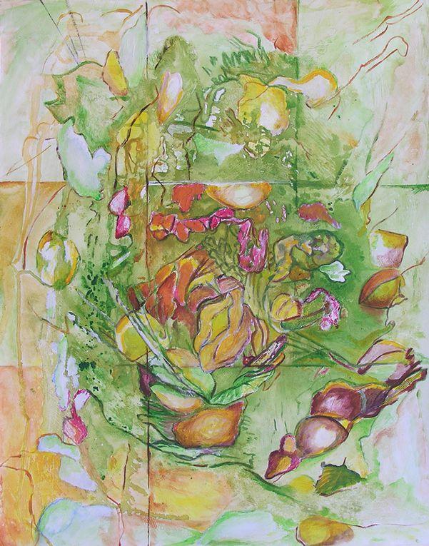 2 peintures de Martine Aubrey