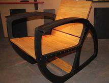 Mobilier industriel, fauteuil industriel