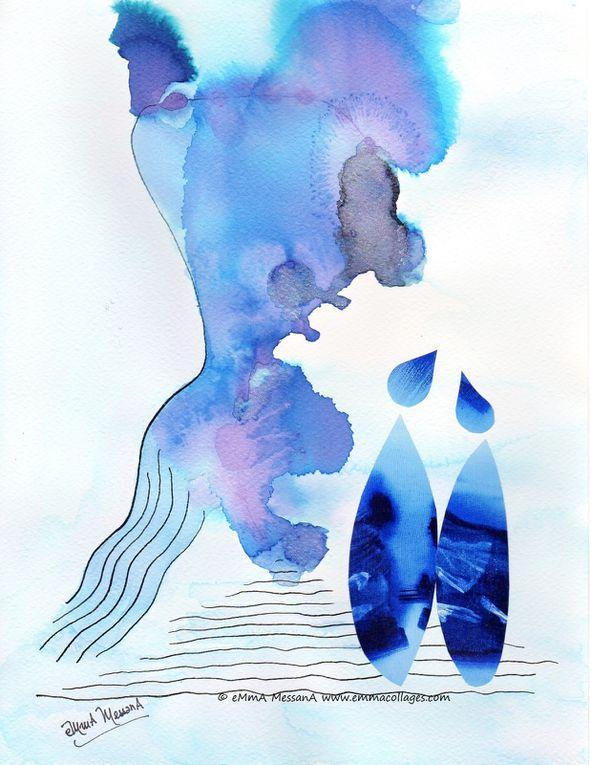 Les Collages d'eMmA MessanA, mes petits amoureux de papier, pièces uniques...