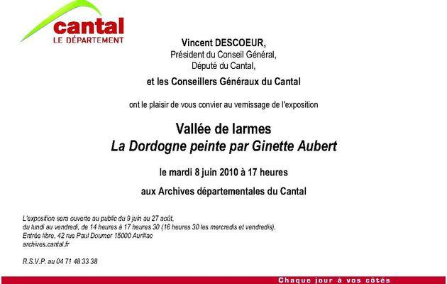 Une exposition imprévue aux Archives du Cantal !