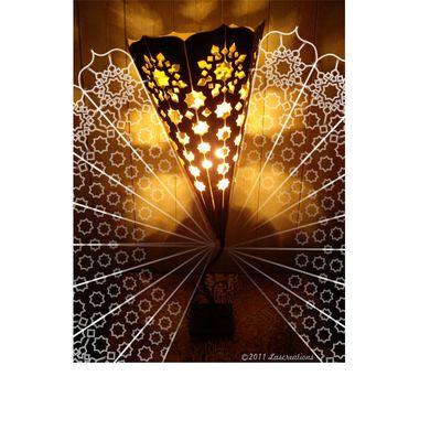 Lampe orientale zig-zag/ oriental lamp zigzag