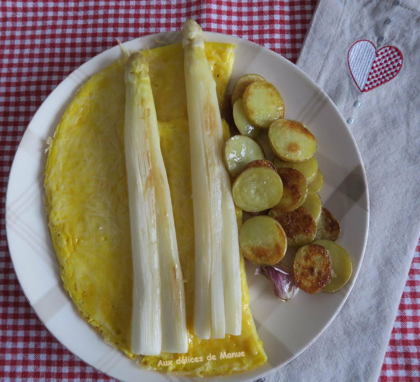 asperges,asperges blanches,omelette,œuf,parmesan,entrée