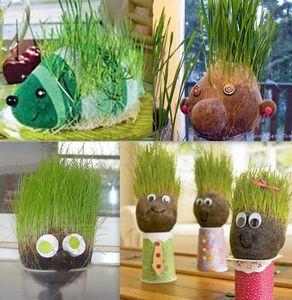 Tutoriels têtes aux cheveux en herbe
