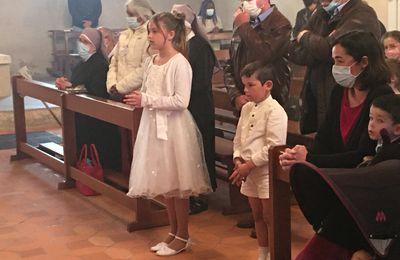 2e dimanche de Paques 2021 - Photos du Baptême et 1ère Communion de Luna COSTE-PAUL et de la 1ère communion Tancrède CHAUSSAT