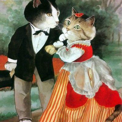 Couples de chats...