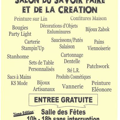 Salon du SAVOIR-FAIRE et de la CREATION