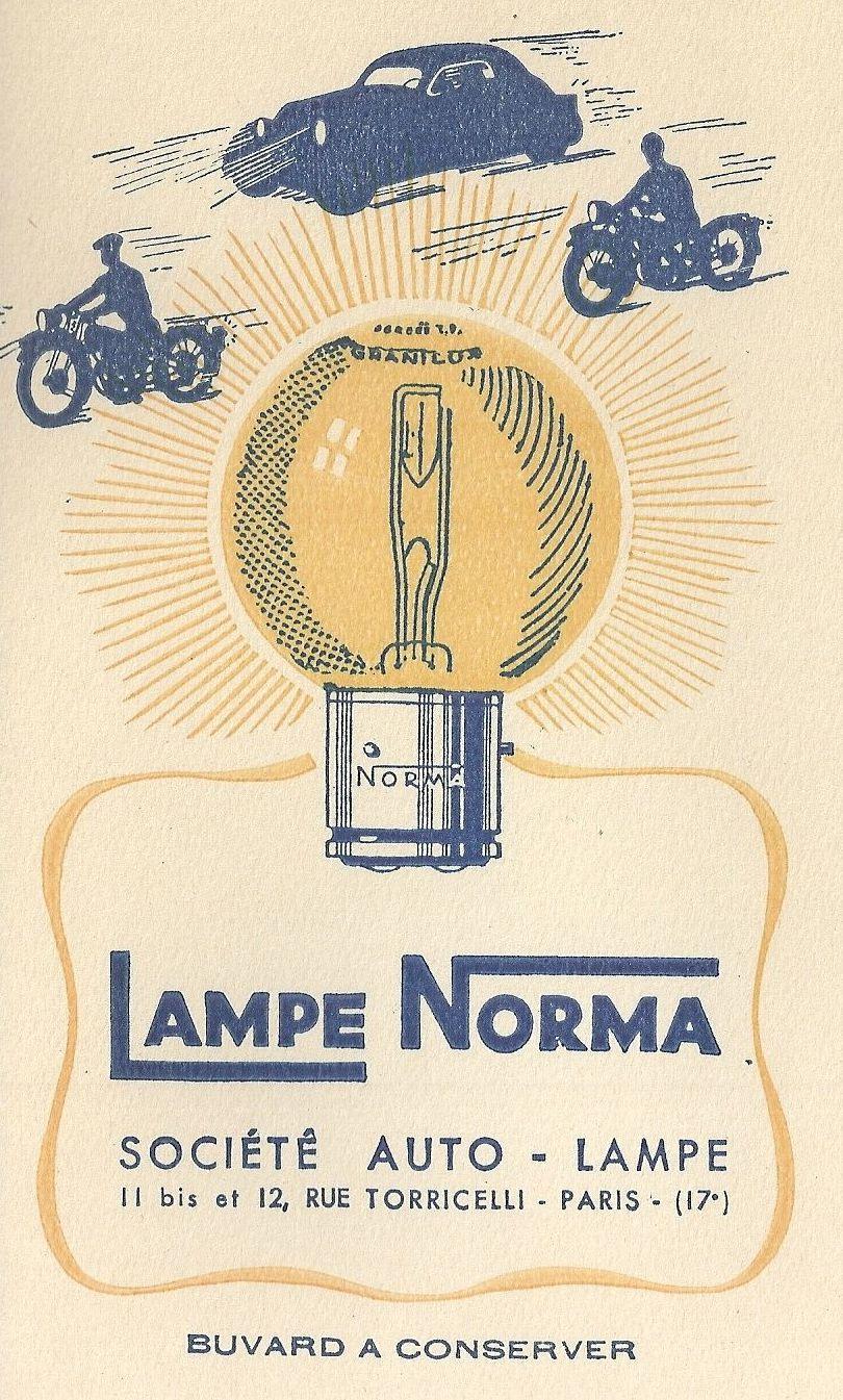 RECHERCHE des éclaircissements au sujet de LAMPES NORMA, un des plus vieux noms du monde de l'automobile depuis près de 90 ans