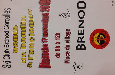 Vente de BOUDIN à Brénod ce dimanche 17/11