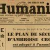 Une de l'Humanité historique ! Celle du 18 août 1946 !