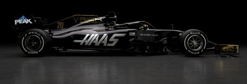 Haas se pare des couleurs de Rich Energy