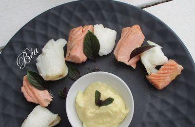 Mayonnaise au raifort pour un duo de poisson froid