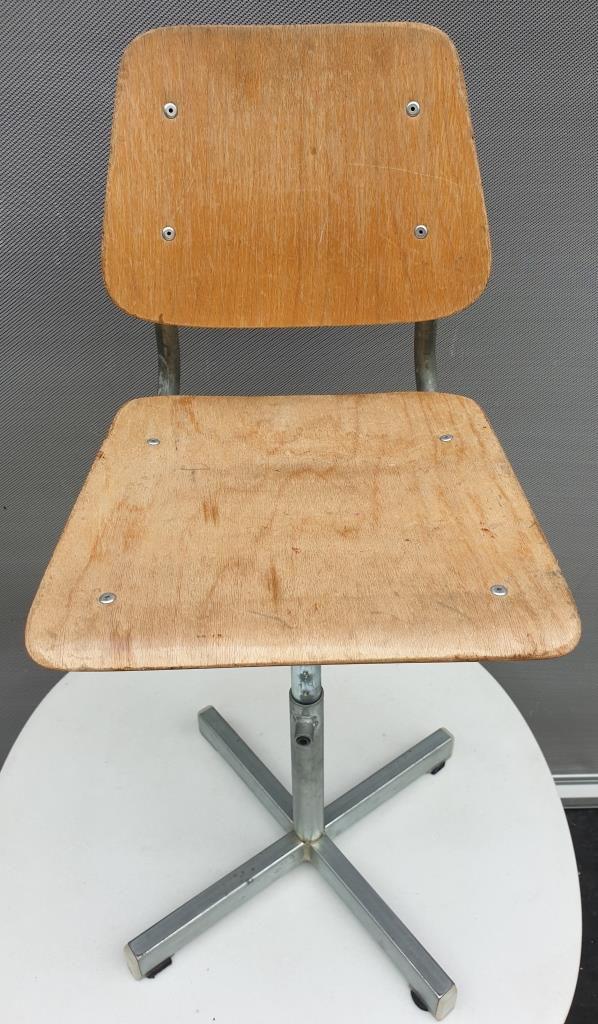 Chaise enfant vintage bois métal réglable - 50 euros