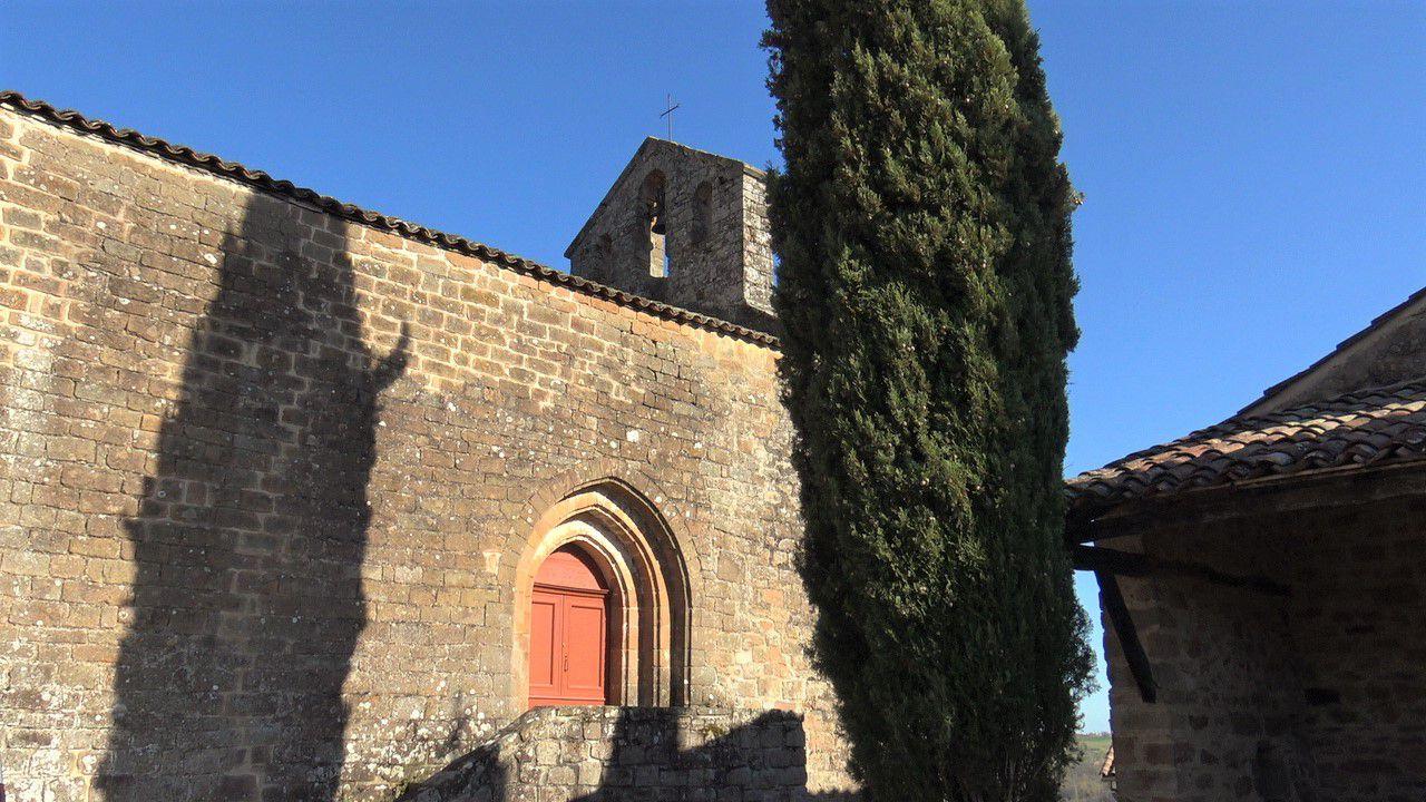 L'église de Saint Marcel près de Cordes sur Ciel