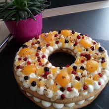 Number cake chocolat blanc