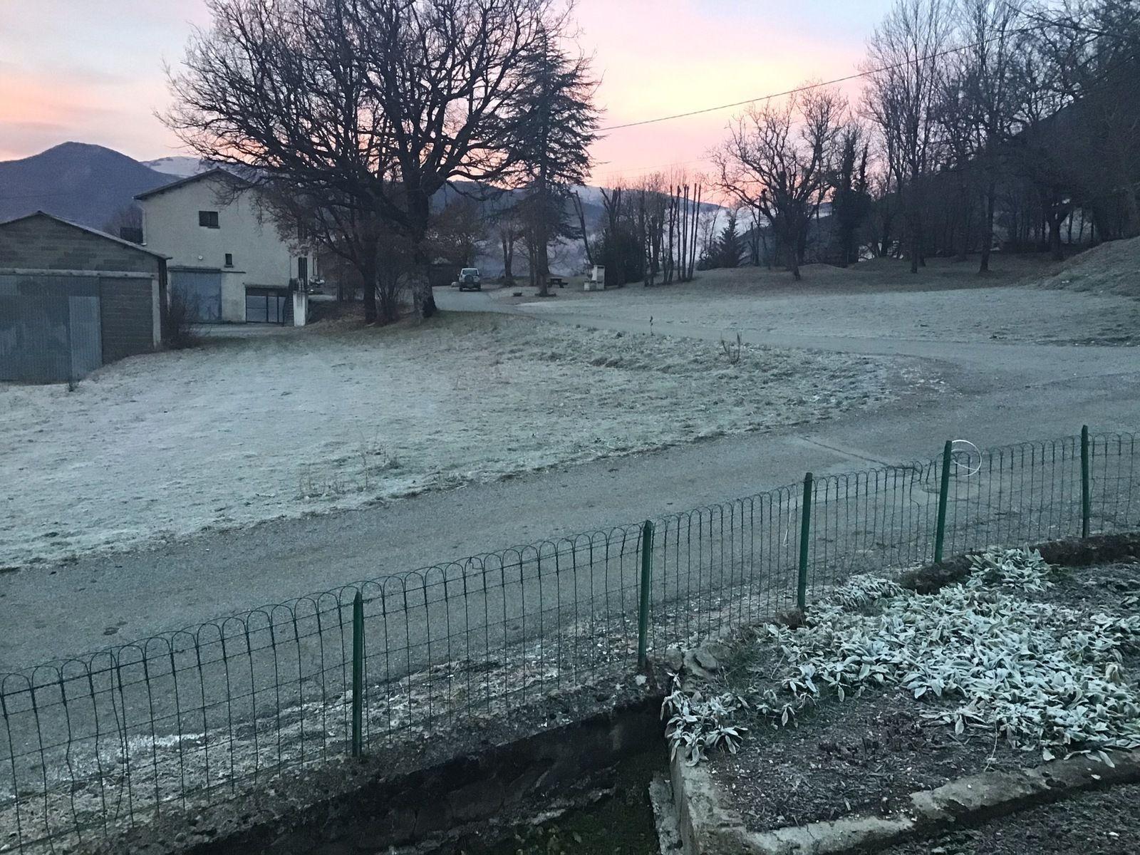 La Mure Argens les premières gelées de décembre