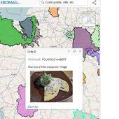 Carte de France des AOP-AOC de fromages - Chroniques Cartographiques